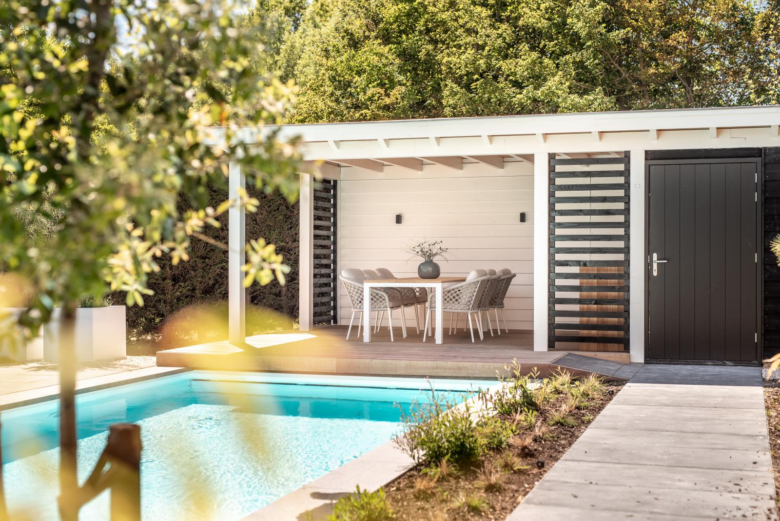 Luxe poolhouse te Kamperland 2